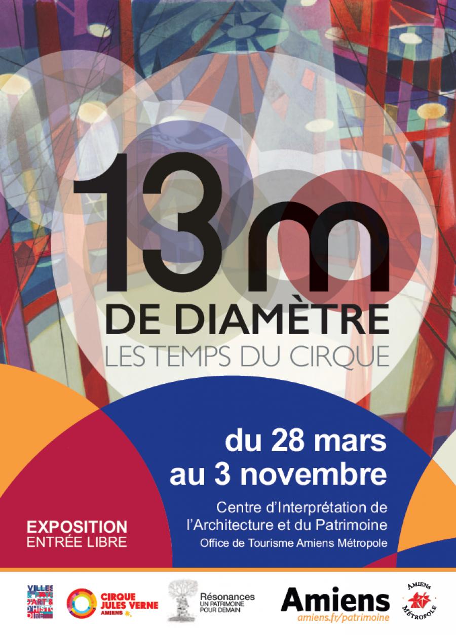 Exposition 13 m de diamètre 'les temps du cirque'