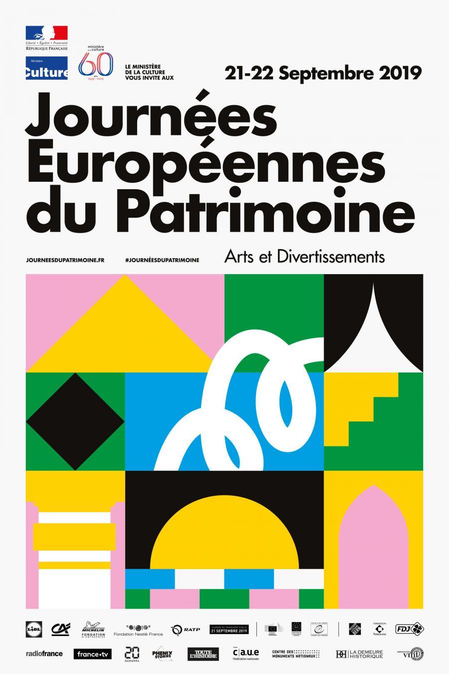 Journés nationales du patrimoine 21 et 22 septembre 2019
